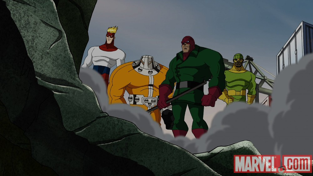 The Wrecking Crew from The Avengers: Earth's Mightiest Heroes!