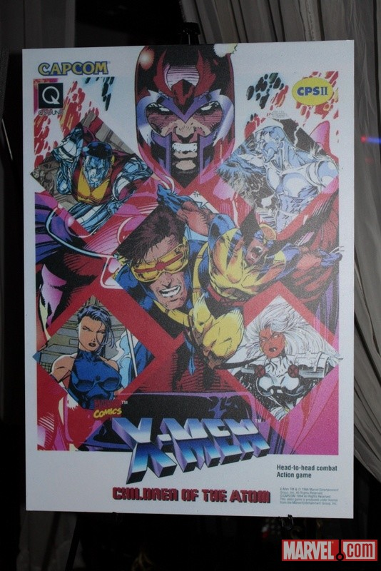 X-Men: Children of the Atom poster from the Classic Lounge at the Marvel vs. Capcom 3 Fight Club