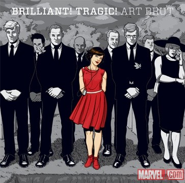 Art Brut's 'Brilliant! Tragic!' album cover art by Jamie McKelvie