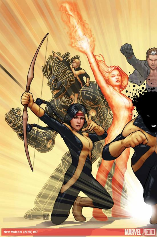 New Mutants (2009) #47 cover by John Tyler Christopher