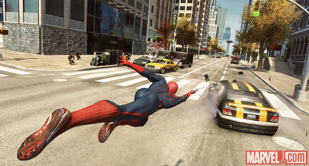 Spidey swinging into action in The Amazing Spider-Man video game