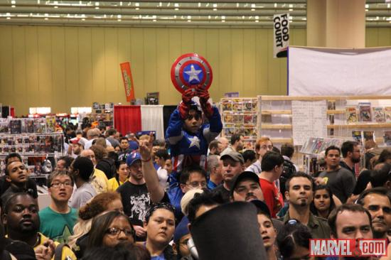Captain America cosplayer at Fan Expo 2012