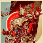Marvel's Iron Man 3 poster by Martin Ansin for Mondo