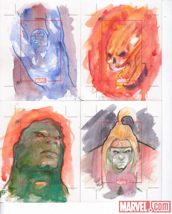 Marvel 70th Anniversary sketch card by Brandon Kenney