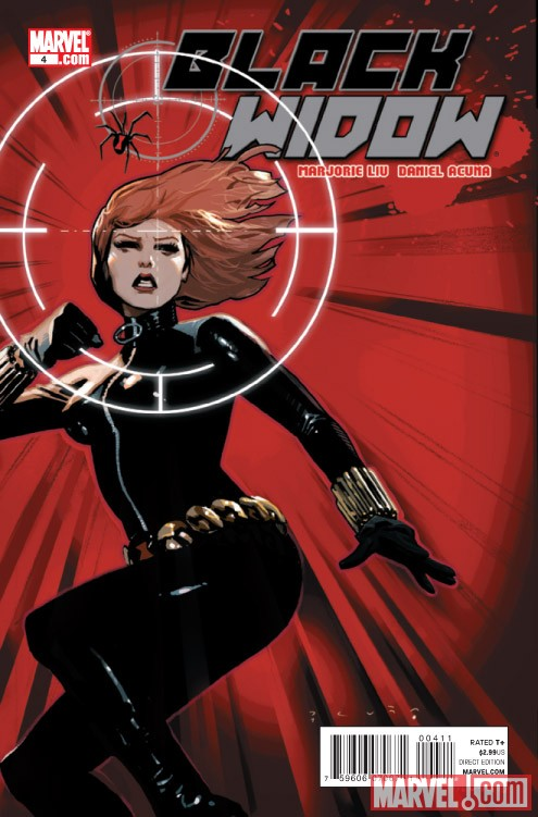 BLACK WIDOW #4 cover by Daniel Acuna
