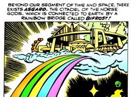 Asgard's first appearance in a Marvel comic