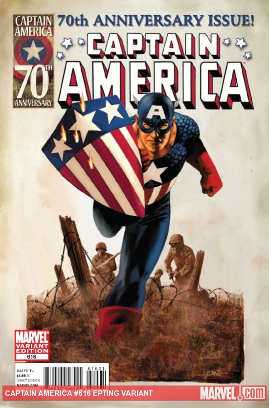 Captain America #616 variant cover by Steven Epting
