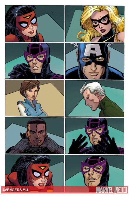 Avengers (2010) #14 preview art by John Romita Jr.