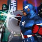 Screenshot of Dr. Doom and Captain America from Marvel Avengers: Battle for Earth