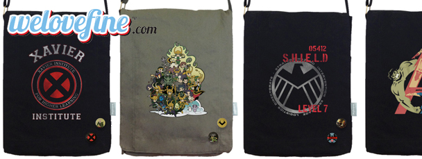 WeLoveFine: Marvel Messenger Bags