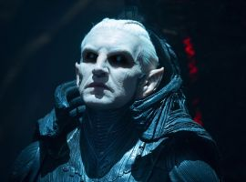 Christopher Eccleston stars as the villain Malekith in Marvel's Thor: The Dark World