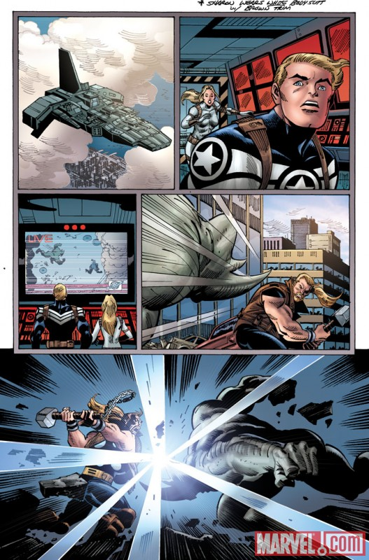 THUNDERSTRIKE #1 (2010) preview art by Ron Frenz 4