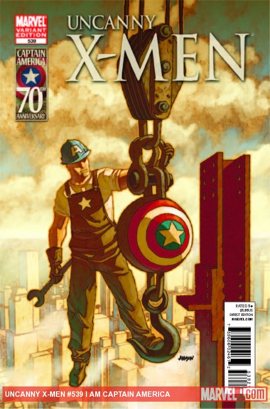 Uncanny X-Men (2010) #539, I Am Captain America
