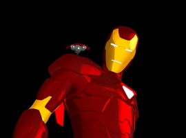 Final color art for Iron Man Mark II Armor from Iron Man: Armored Adventures