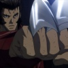 Wolverine shows his claws in the Wolverine anime