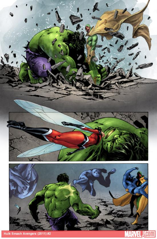 Hulk Smash Avengers #2 preview art by Max Fiumara