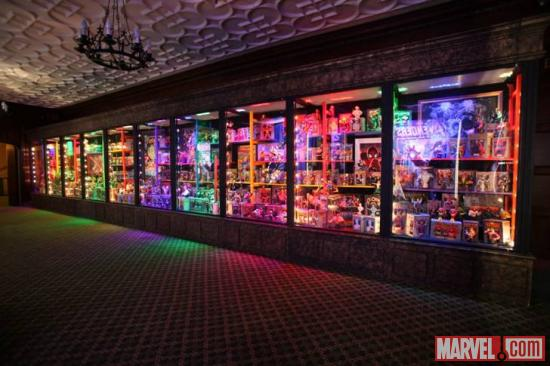 Marvel toys at the El Capitan Theatre in Hollywood