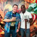 Actor Michael K. Williams with Agent M