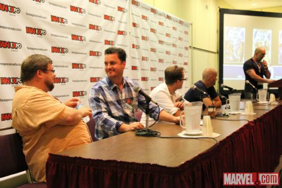 The AvX panel at Fan Expo 2012