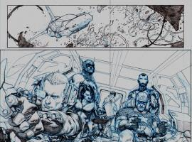 Avengers (2012) #1 preview pencils by Jerome Opena