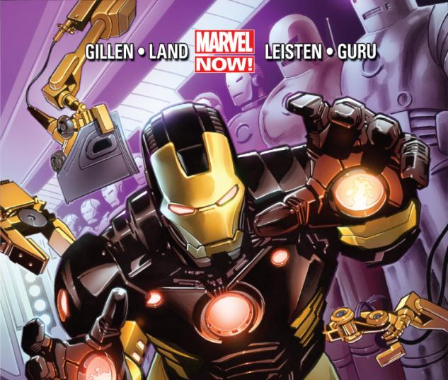 cover from IRON MAN (2012) #1 (2nd Printing Variant)