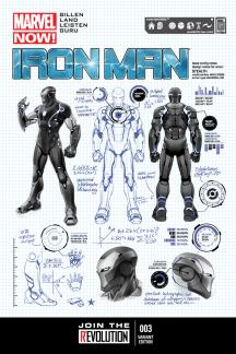 Iron Man #3  (Pagulayan Design Variant)
