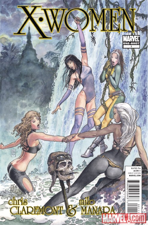 X-WOMEN #1 cover art by Milo Manara