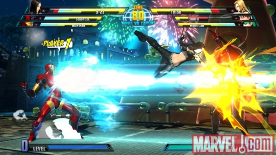 X-23 and Iron Man in Marvel vs. Capcom 3