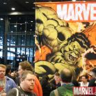 Hulk vs. Red Hulk Banner at C2E2 2010