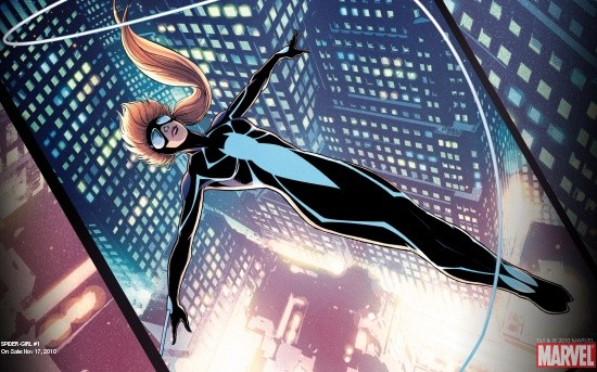 Spider-Girl # 1 cover art by Barry Kitson