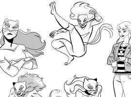 Patsy Walker, AKA Hellcat! sketches by Brittney Williams