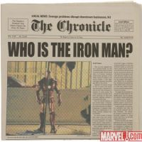 Newspaper movie prop from Iron Man