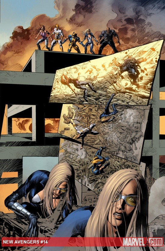 New Avengers (2010) #14 preview art by Mike Deodato