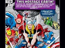 Thor on an early adventure with the Avengers