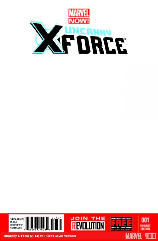 UNCANNY X-FORCE 1 BLANK COVER VARIANT
