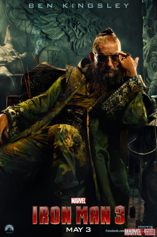 Ben Kingsley stars as the Mandarin in Marvel's Iron Man 3
