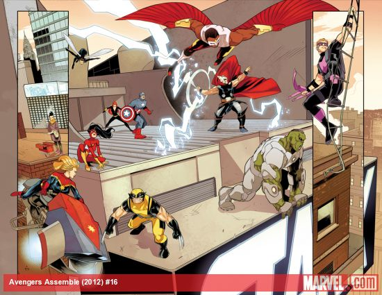 Avengers Assemble #16 preview art by Matteo Buffagni