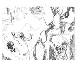 Avengers Arena #13 preview pencils by Karl Moline