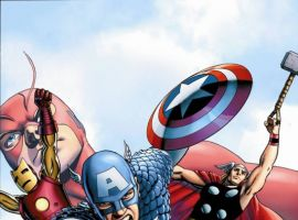 Image Featuring Iron Man, Thor, Wasp, Hank Pym, Avengers