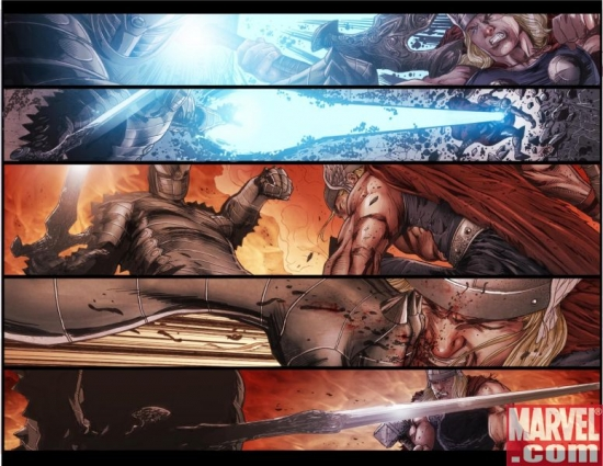 THOR: MAN OF WAR #1 preview art by Patrick Zircher