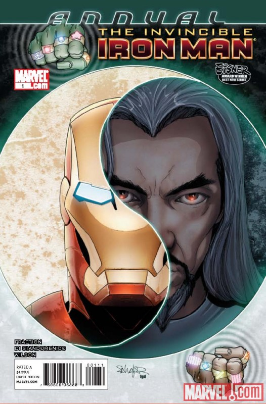 INVINCIBLE IRON MAN ANNUAL #1 cover by Salvador Larroca