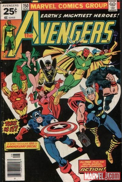 AVENGERS #150 cover