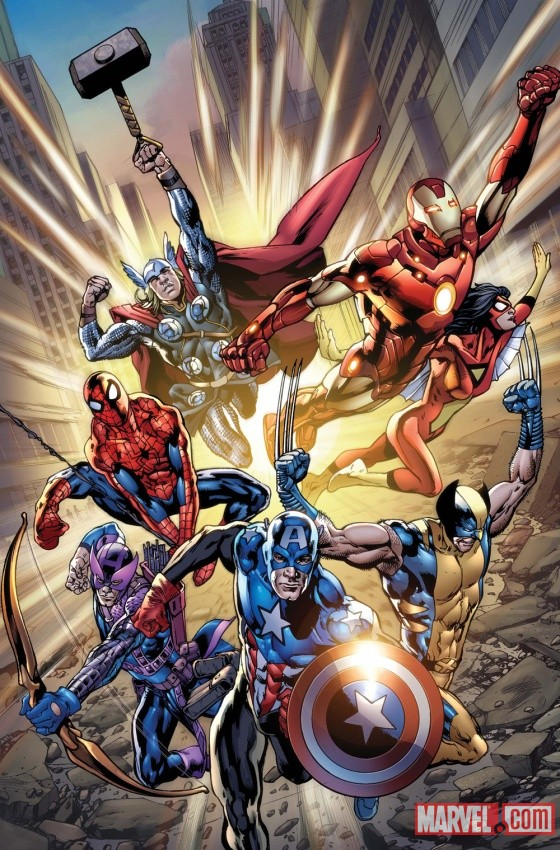 Avengers #12.1 cover by Bryan Hitch