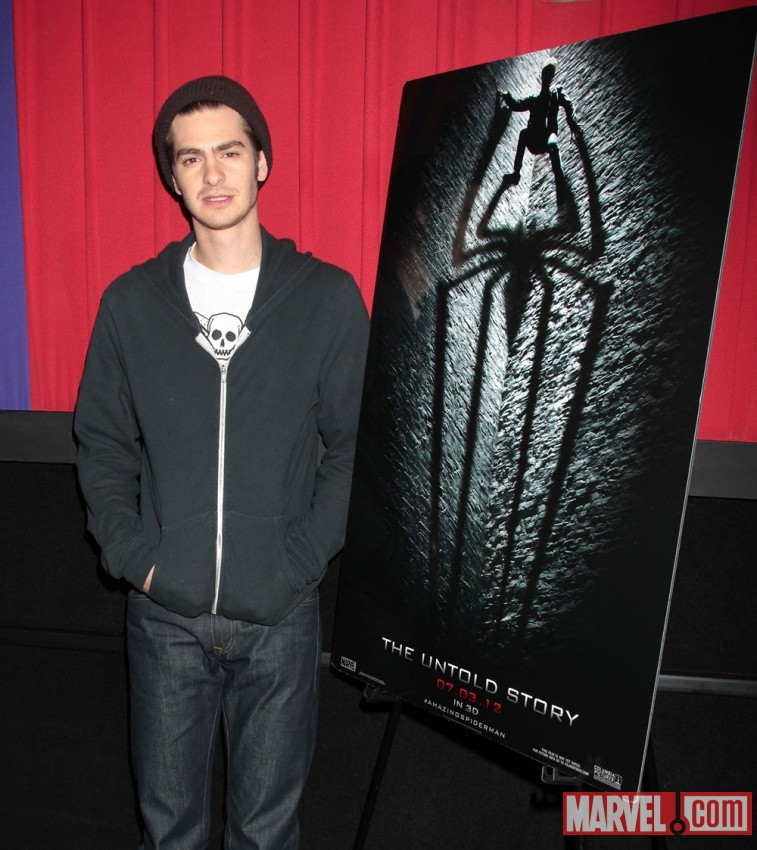 Andrew Garfield (Peter Parker/Spider-Man) at the Amazing Spider-Man event in New York