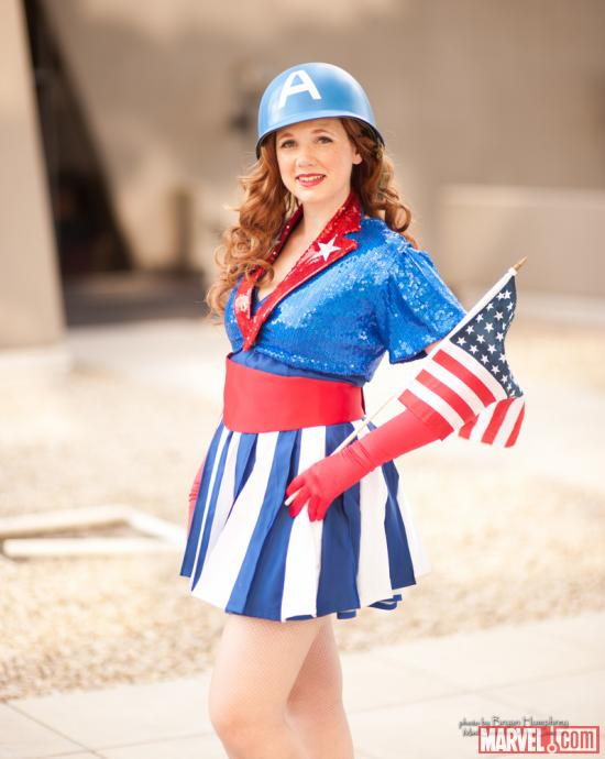 Marvel Costuming: Captain America USO Girl at Dragon*Con 2012