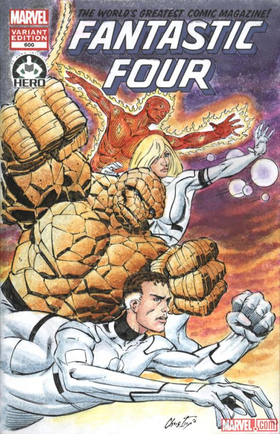 Fantastic Four #600 Hero Initiative variant cover by Chris Ivy 