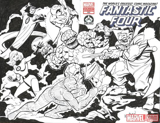 Fantastic Four #600 Hero Initiative variant cover by Alan Kupperberg