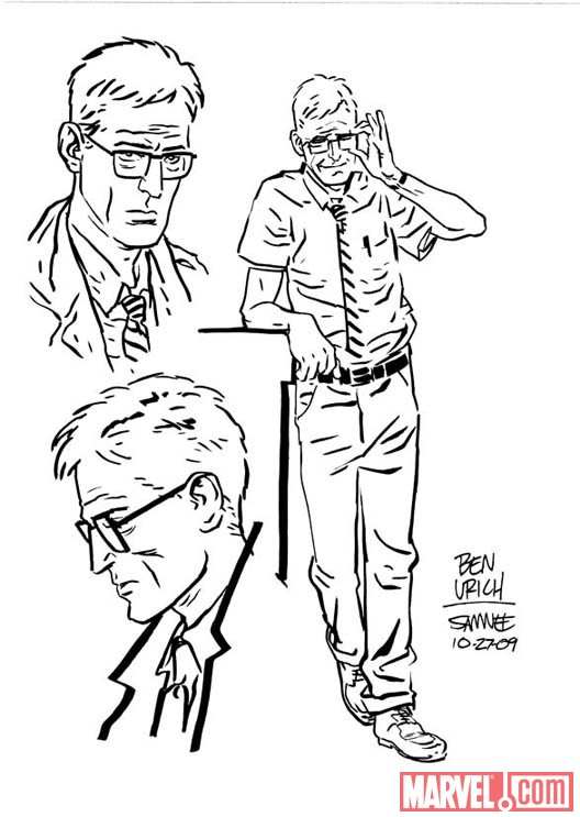Ben Urich sketch by SIEGE: EMBEDDED artist Chris Samnee