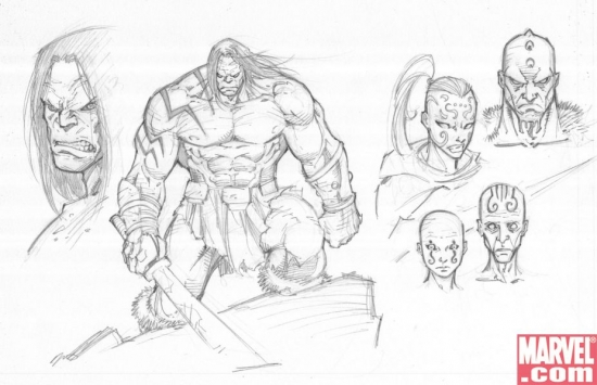 SKETCHES OF SKAAR