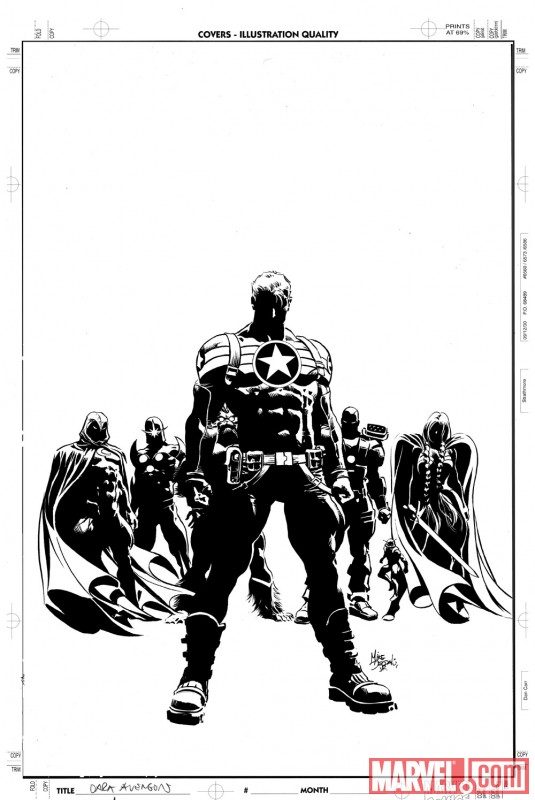SECRET AVENGERS inked cover sketch by Mike Deodato